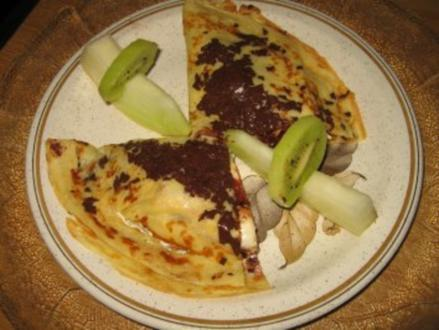 Erdbeer-Bananen-Pfannkuchen - Rezept