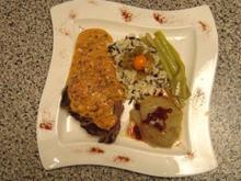 Rinderfilet auf frischer Pfeffer–Chili–Soße mit Gemüse der Saison - Rezept