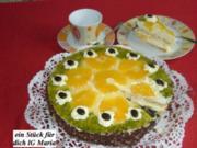 Frischkäsetorte mit Orangen - Rezept