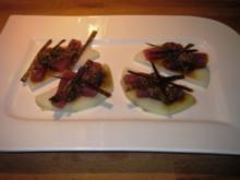 Thunfisch roh auf Kohlrabi mit Noriblätter - Rezept