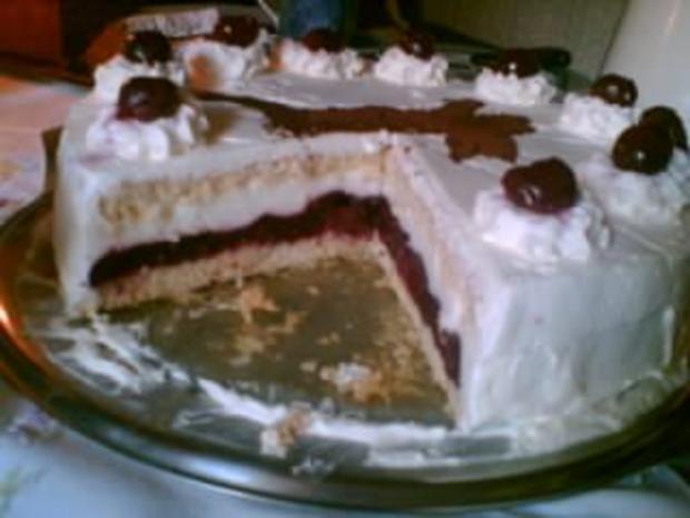 Kirsch-Joghurt-Torte - Rezept - Bild Nr. 2
