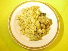 Hähnchen-geschnetzeltes mit Reis und Brokkoli - Rezept