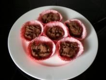 Dessert: Schokoladen Küchlein - warm & innen flüssig - Rezept