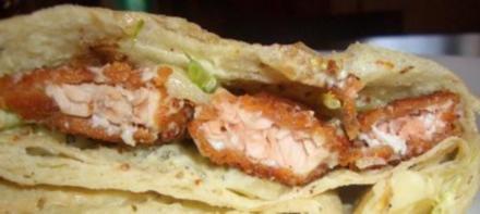 Fisch : Gefülltes Lavash ~ Brot - Rezept