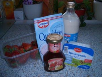 Erdberr-Schicht-Dessert - Rezept
