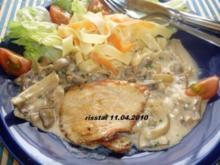Putenschnitzel mit Pilz-Sahne-Soße - Rezept