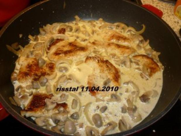 Putenschnitzel mit Pilz-Sahne-Soße - Rezept - Bild Nr. 5