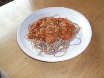 Spaghetti Bolognese mit Tofu - Rezept
