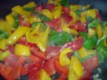Paprikagemüse zu Bratwurst und Salzkartoffeln - Rezept