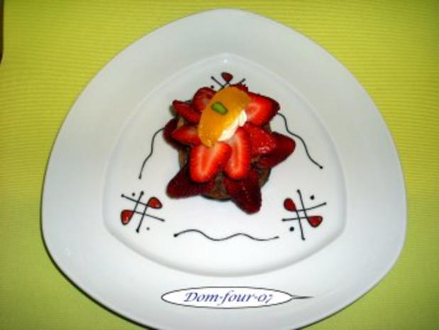 Erdbeer-Schokoladen-Sahne-Windbeutel - Rezept