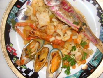 Fisch :  -Canar. Viejas mit Meeresfrüchten und Gemüse- - Rezept