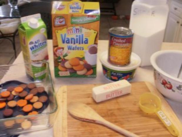 Obst: Ananas Dessert  ohne zu backen -  Amerikanisches Schnellessen - Rezept - Bild Nr. 2