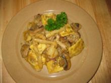 Ravioli-Spargel-Champignon-Töpfchen - Rezept