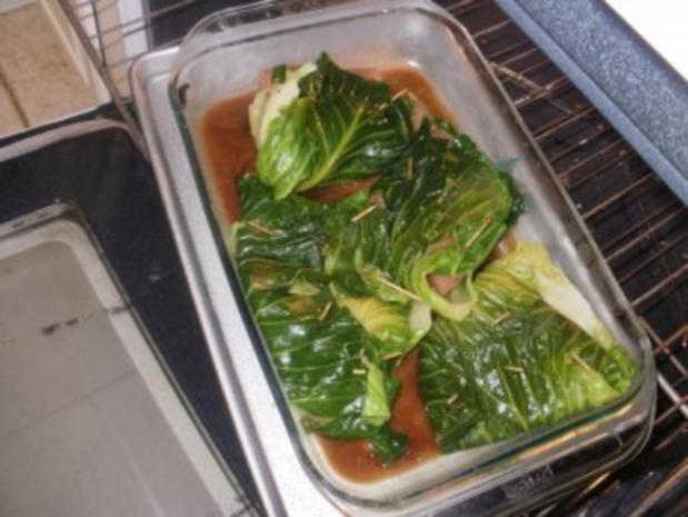 Fisch- Gedaempfter Fisch in Weiskohlblaetter mit Hoisin Sosse und Ingwer - Rezept - Bild Nr. 6