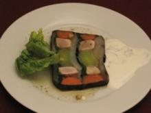 Terrine aus gekochtem Gemüse und kurz gebratenem Tunfisch - Rezept
