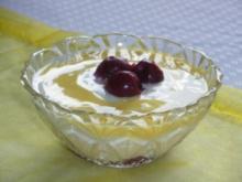 Vanille-Kirsch-Speise mit Eierlikör - Rezept