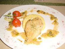 Hendlbrust auf Gorgonzola Polenta - Rezept