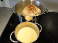Blumenkohl in Zitronenbuttersauce mit Hähnchenbrust in Blätterteig - Rezept