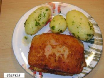 Gefüllter Leberkäse (Fleischkäse) - Rezept