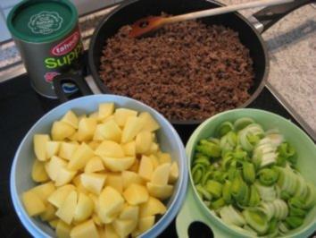 Hackfleisch-Lauch-Kartoffelpfanne - Rezept