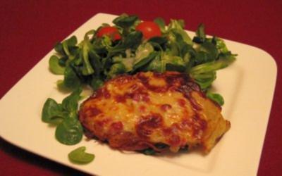 Hessische Kartoffelplätzchen im Feldsalat-Bett - Rezept