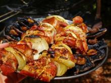 Sosaties mit Aprikosen (südafrikanische Fleischspieße) - Rezept
