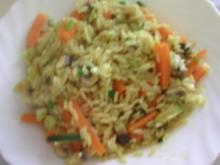 Curry-Gemüse-Reis-Pfanne - Rezept