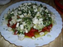 Tomaten-Gurkensalat ~ Damates Salatasi - Rezept