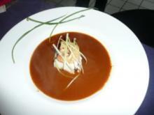 SUPPE/FISCH:Möhren -Ingwer-Suppe mit  Saibling - Rezept