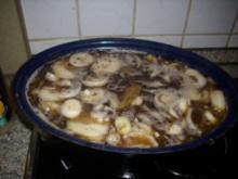 Bratheringe  eingelegt mit vielen Zwiebeln - Rezept