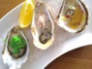 Dreierlei Austern - Rezept