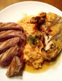Tunfischsteak mit gebackenem Paprika-Risotto - Rezept
