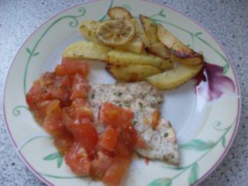 Zitronenkartoffeln mit Doradenfilets - Rezept