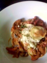 Tomaten-Ricotta-Tortellini  mit Champignons und was sonst noch so da war.... - Rezept