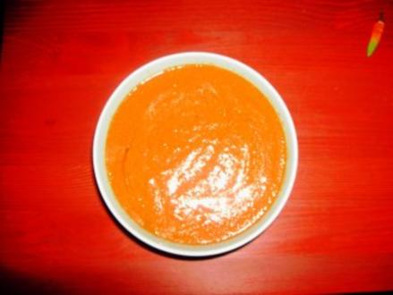 Tomatensuppe aus gebackenen Tomaten - Rezept