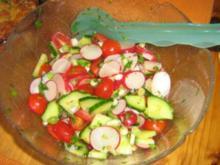 Salat rot-weiß-grün - Rezept