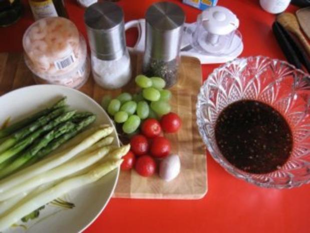 Spargelsalat  -  fruchtig mit Garnelen - Rezept - Bild Nr. 3