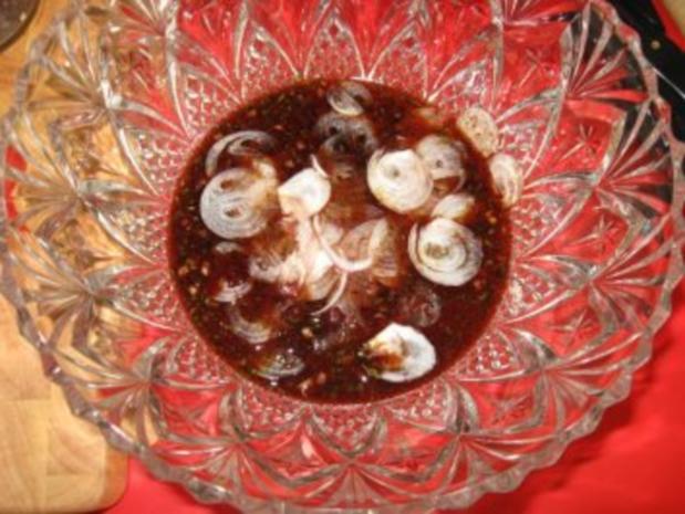 Spargelsalat  -  fruchtig mit Garnelen - Rezept - Bild Nr. 4