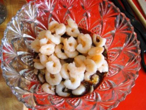 Spargelsalat  -  fruchtig mit Garnelen - Rezept - Bild Nr. 5