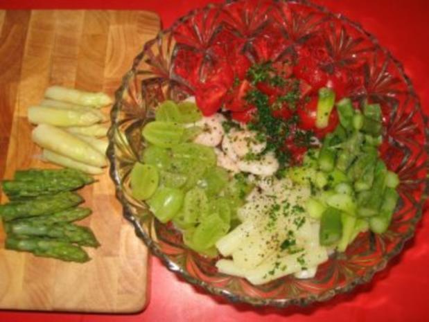 Spargelsalat  -  fruchtig mit Garnelen - Rezept - Bild Nr. 6