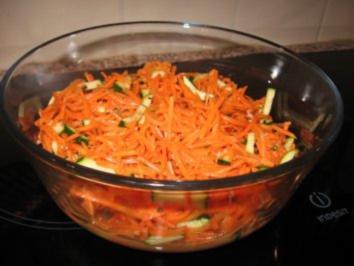 Karotten-Zucchinisalat - Rezept