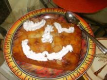 Kuchen - Karotten-Ananas mit Manderinen umgedrehter Kuchen - Rezept