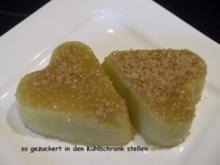 Dessert:  RHABARBER - SAHNE - PUDDING - Rezept