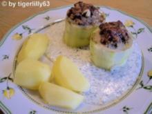 Gefüllte Schmorgurken mit Dillsauce - Rezept