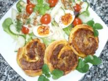 ☸ڿڰۣ—Blätterteig-Hackschnecken mit frischem Salat an Honig-Senf-Remoulade ☸ڿڰۣ— - Rezept