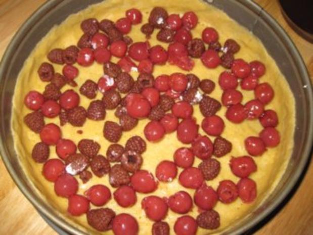 Mein Käsekuchen mit Kirschen und Himbeeren ..... - Rezept - Bild Nr. 10