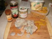 Pasta- Rigatoni mit Shrimp und getrockneten Tomaten  mit kick - Rezept