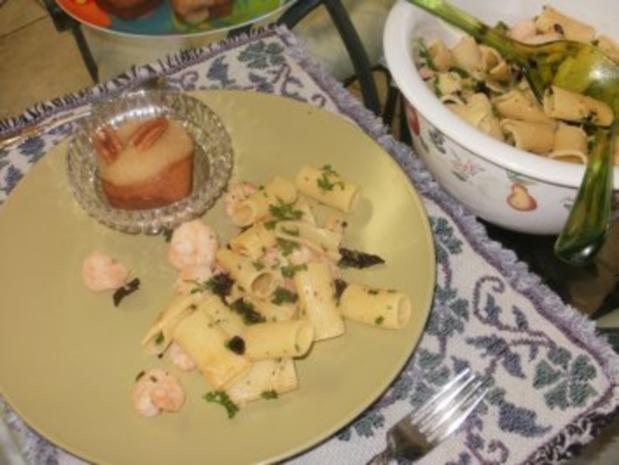 Pasta- Rigatoni mit Shrimp und getrockneten Tomaten  mit kick - Rezept - Bild Nr. 4