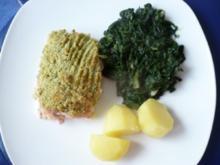 Lachs  mit Kräuter-Meerrettich  - Kruste - Rezept