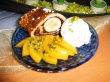 Nougatbanane im Mantel - Rezept